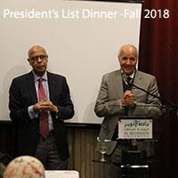 President's List - Fall 2018