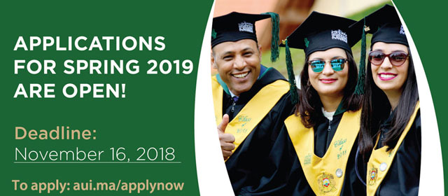 Applications for Spring 2019 are Open! aui.ma/applynow