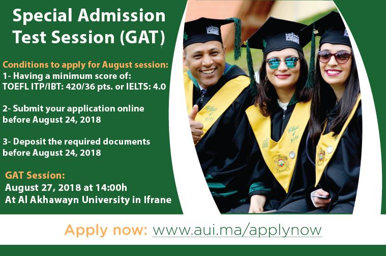 Special Admission Test Session (GAT)!