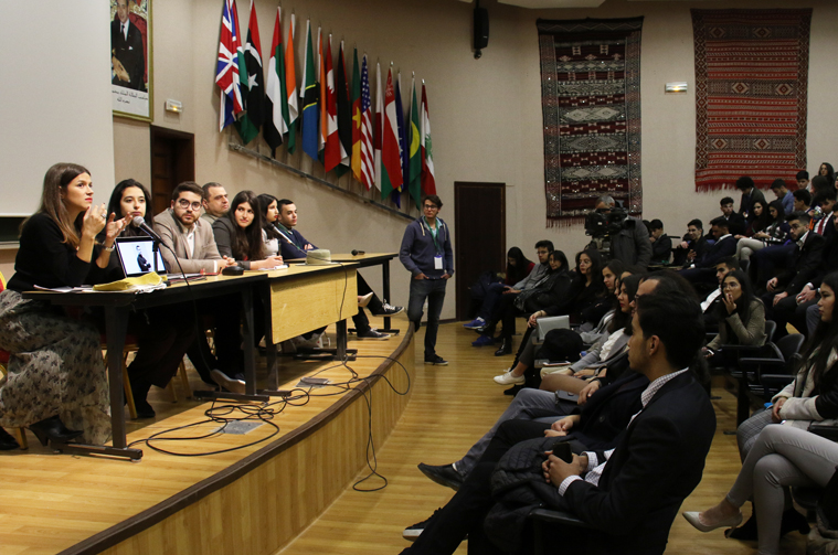 Model United Nations at AUI, 2019.