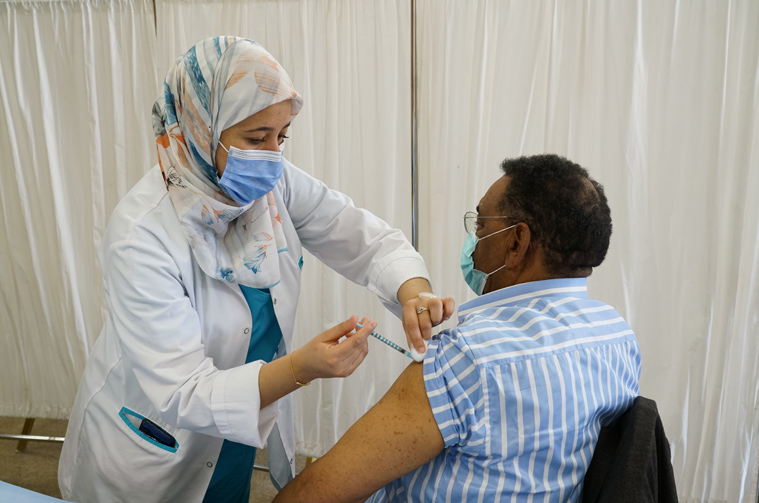 Third shot of covid-19 vaccine for AUI faculty and staff members.